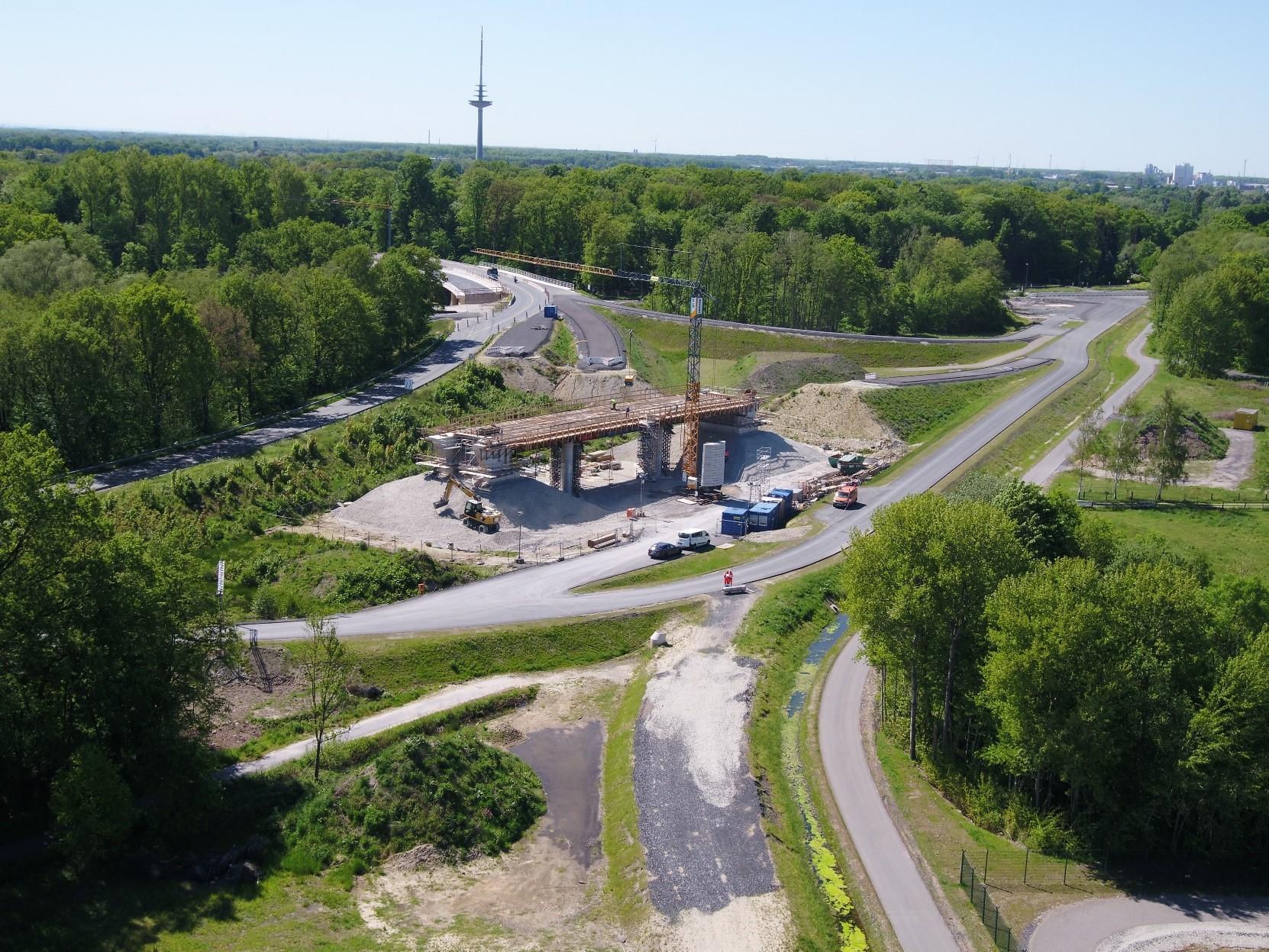 Bau der Umgehungsstraße B 51